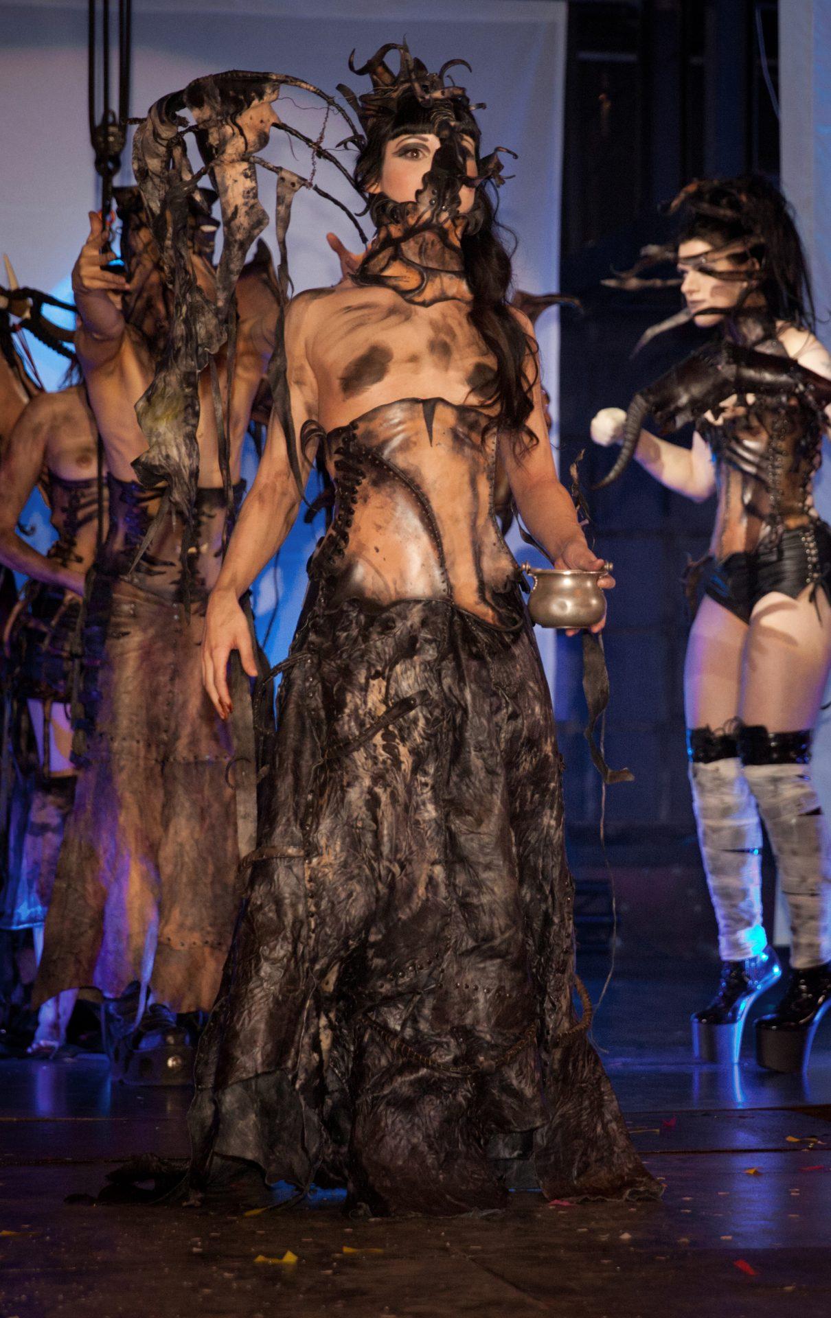 dark fantasy, costume, corset,