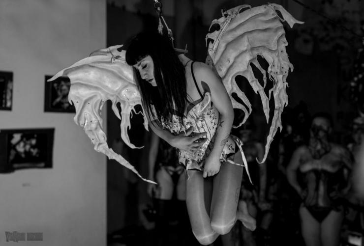 wings, hook suspension