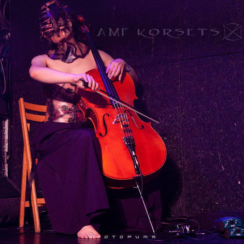 mask, cello