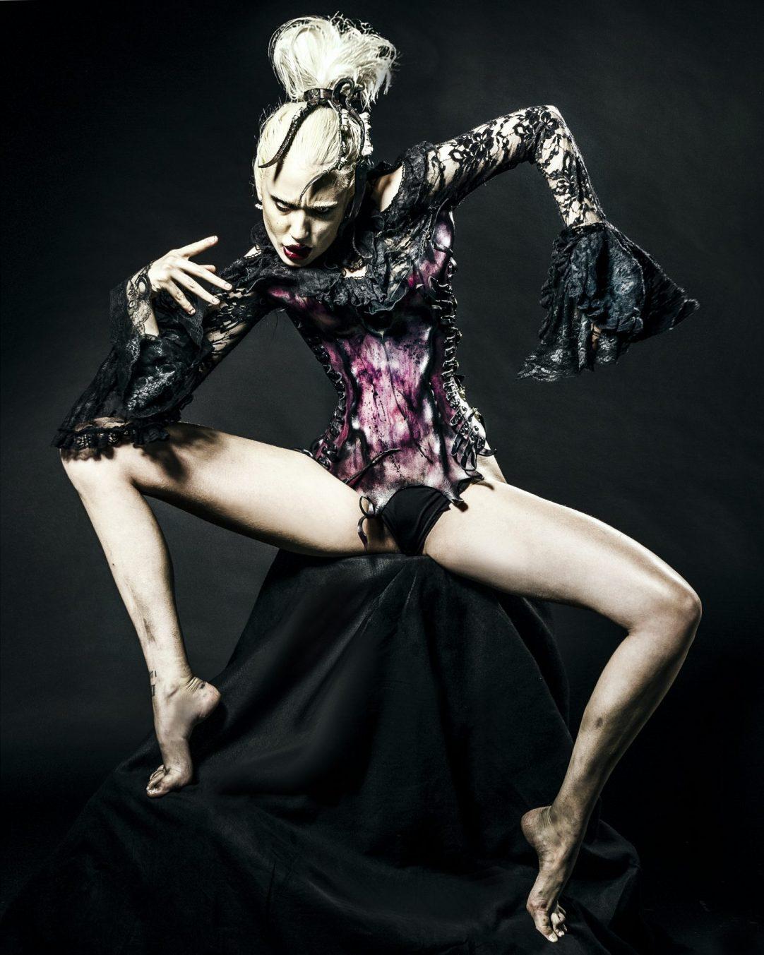 Corset dress, wearable art