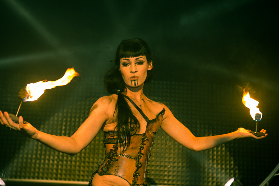 leather corset, fireplay